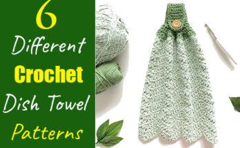 6 Different Crochet Dish Towel Patterns