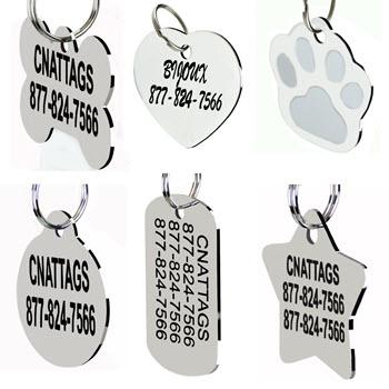 CNATTAGS Stainless Steel Pet ID Tags