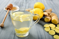 Ginger, honey and lemon with water