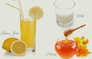 Lemon Juice Honey Milk