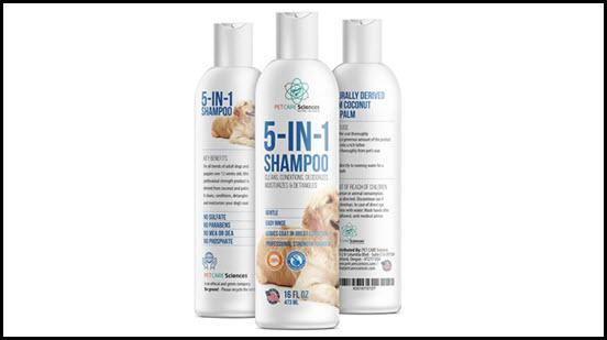 PET CARE Sciences dog shampoo
