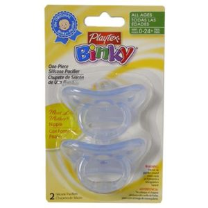Playtex Baby Binky Most Like Mother One Piece Silicone Pacifier