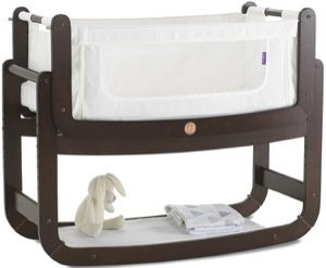 SnuzPod 3-in-1 Bedside Crib brown