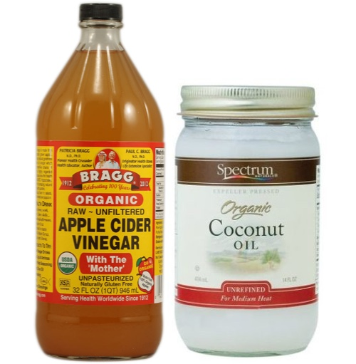 vinegar and coconut oil